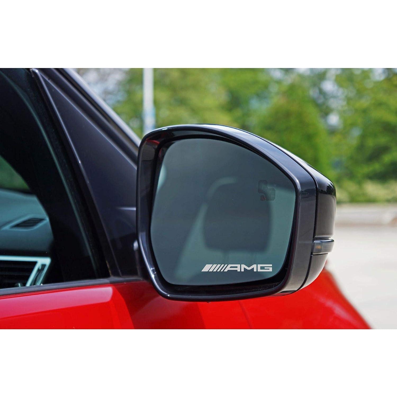 Autodomy Confezione Adesivi Mercedes Benz AMG 6 Pezzi in Vinile per specchietti Auto
