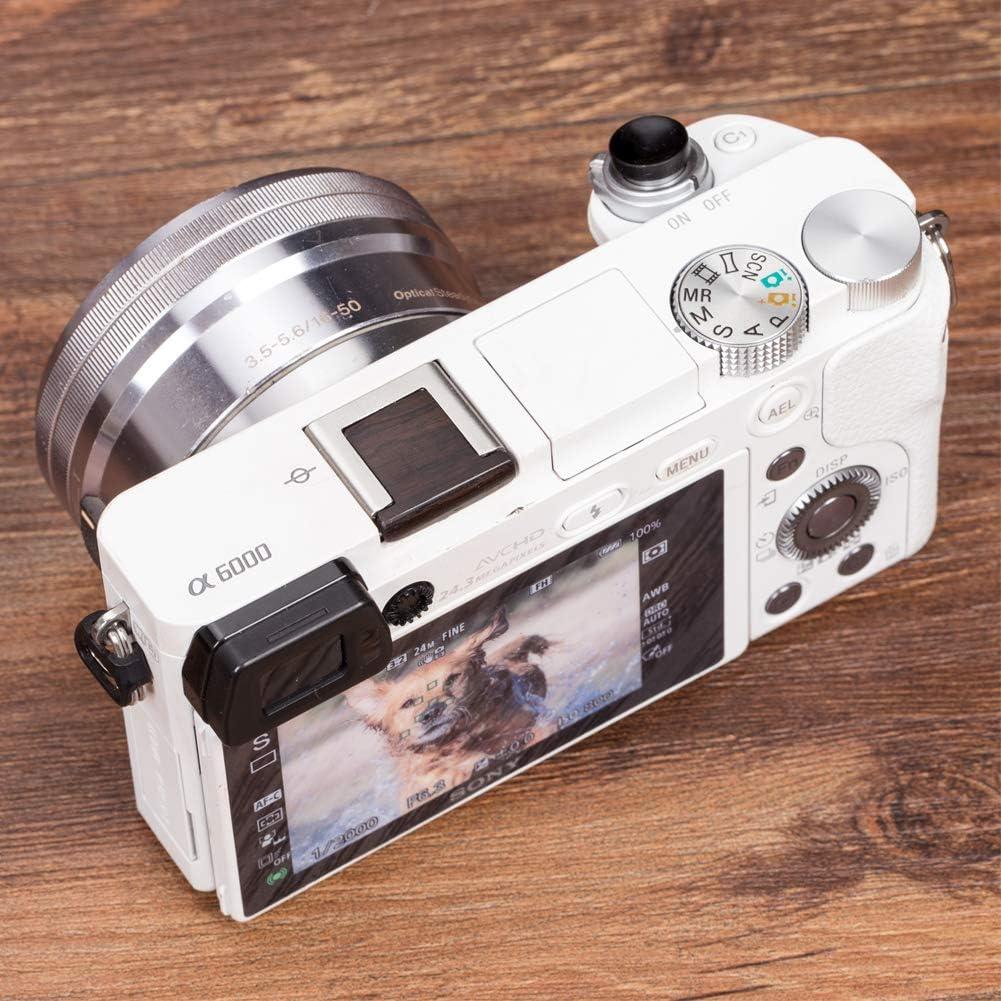 VKO Wooden Camera Hot Shoe Cover Compatible for Sony a6400 a7III a6500 a6300 a6000 A77II A7II A7RII A7SII A58 A68 A99 A99II RX1 RX1RII RX10II RX100II Cameras Hot Shoe Protector Cap Red
