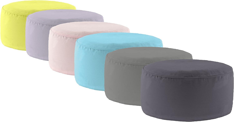 turchese Grigio chiaro /55/x 25/cm/ rosa /Colori: Nero Grigio Antracite Brand sseller Outdoor Pouf Sgabello Pouf per interni ed esterni gonfiabile/ verde
