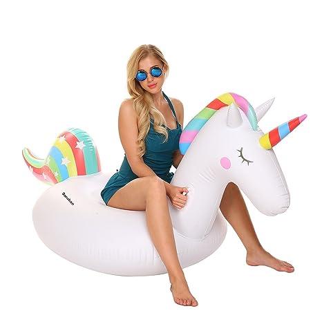 Flotador inflable gigante de la piscina del unicornio para los adultos, los cabritos - Juguete