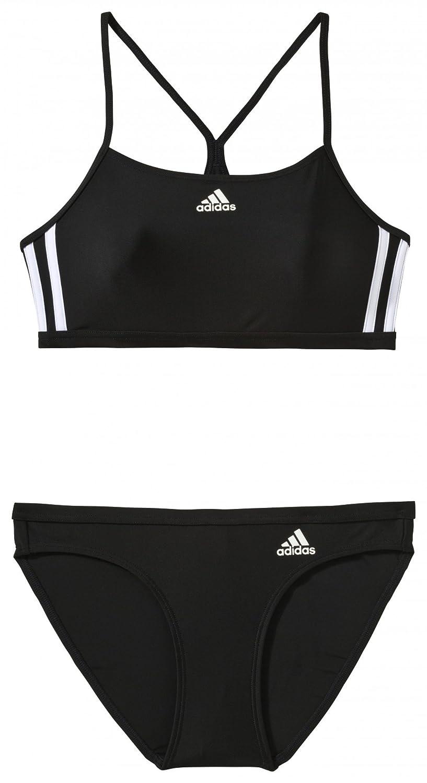 adidas Damen Bikini Infinitex 3-Streifen Schwarz/Weiß