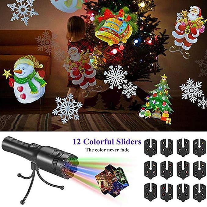 Dunyue Navidad proyector Handheld de luces LED, patrones de luz ...