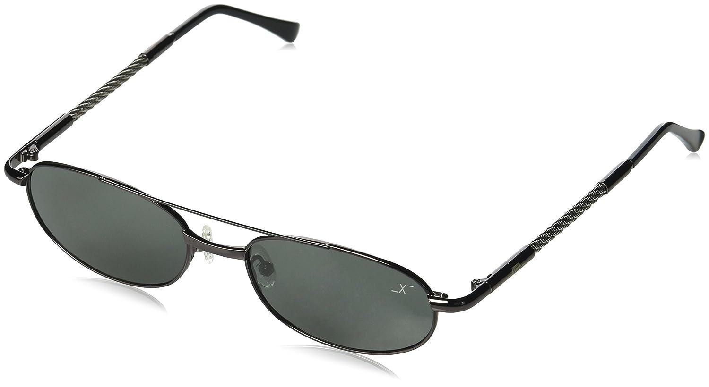 Xezo de alambre de titanio y cable de acero polarizadas UVVintage gafas