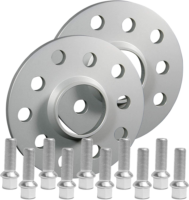 10mm BlackLine Spurverbreiterung 20mm mit Schrauben silber 5x112 57,1mm 12118W/_8/_M1415KU38S