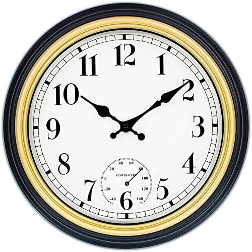 45Min 12 Inch Indoor/Outdoor Retro Round Waterproof Wall Clock