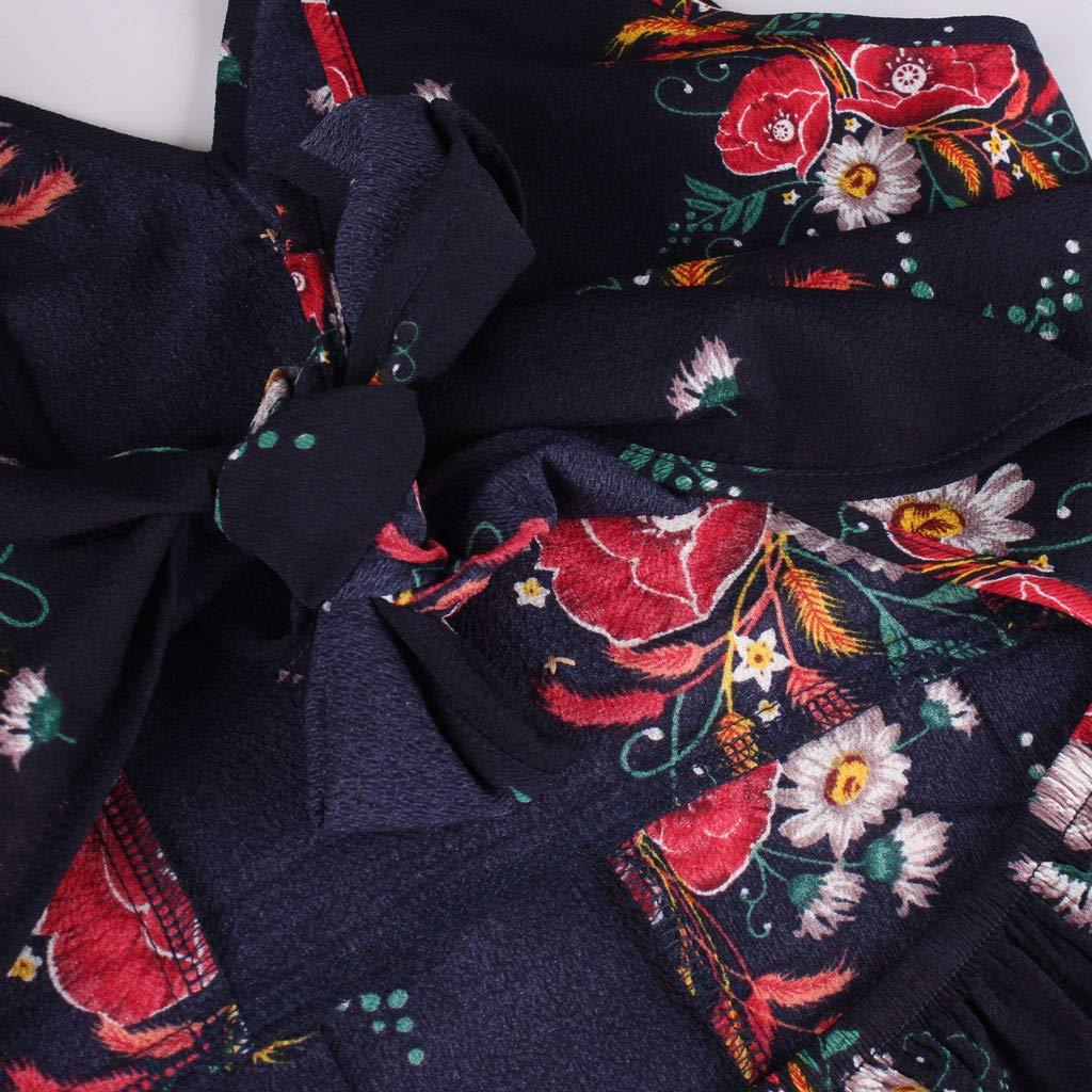 Womens Sleeveless Floral Jumpsuit Wide Leg Playsuit Summer Romper Backless