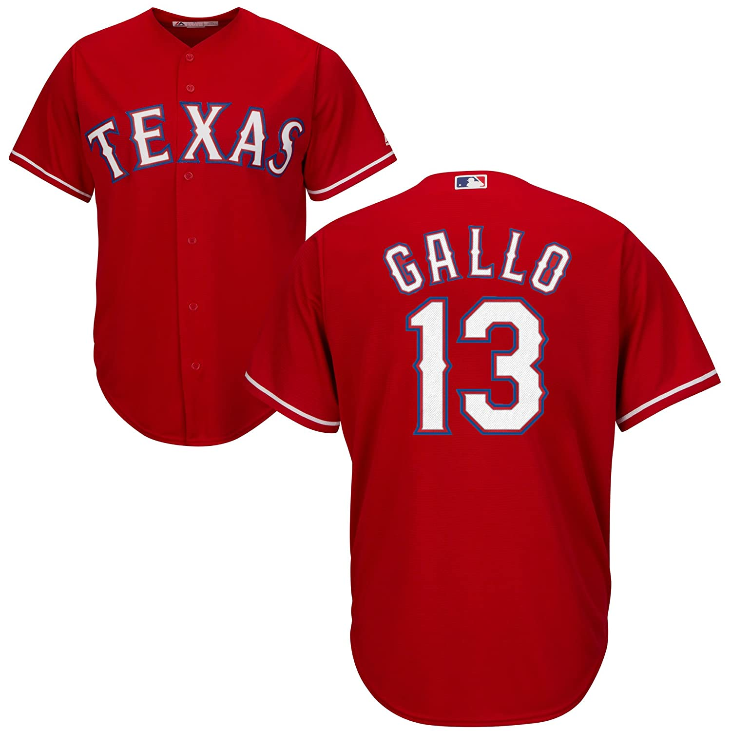 buy online 217be ba89d Outerstuff Joey Gallo Texas Rangers Red Youth Cool Base Alternate Replica  Jersey