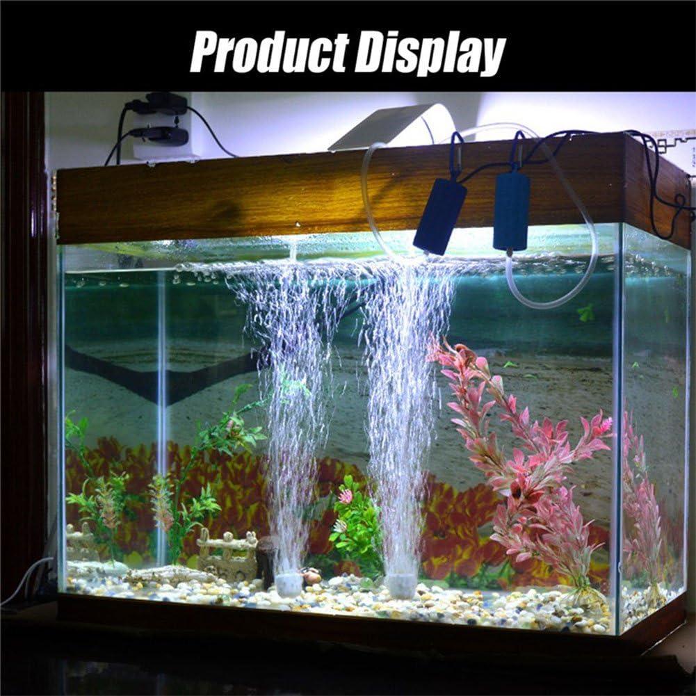fish Mini Tank Oxygen Air Pump Mini Aquarium Plaque doxyg/ène Eau oxyg/énateur Bulle Pierre A/érateur Pompe