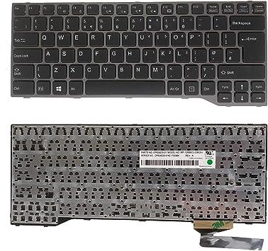 Teclado retroiluminado para portátil Fujitsu Lifebook E733 ...