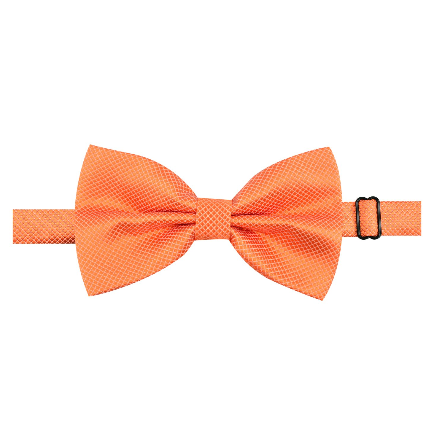 Alizeal Mens Formal Solid Adjustable Bow Tie-Wine Red