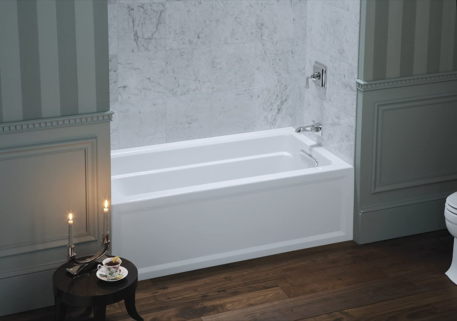 KOHLER K-1123-RA-0 Archer 5-Foot Bath with Comfort Depth Design ...