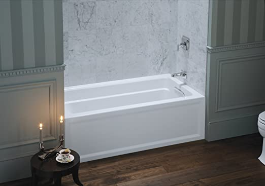 KOHLER K1123RA0 Archer 5Foot Bath with Comfort Depth Design