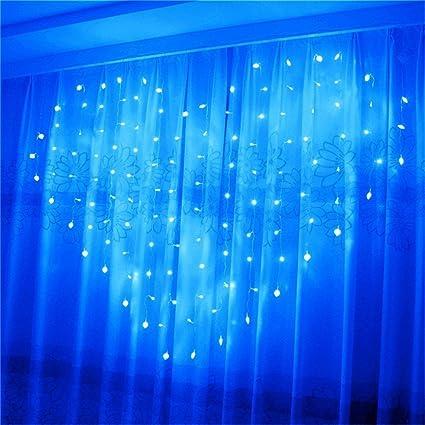 Eplze LED Rideau de Lumière 36pcs Coeur d\'amour Autour de 2m x 1.5m 124  LEDs 8 Modes Commandables Résistant à l\'eau Lumière Cordes pour la Fête de  ...