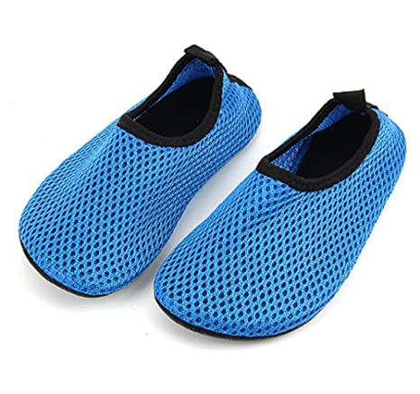 5713c724f Men and Women Water Shoes Neoprene Mesh Aqua Socks Exercise Pool Beach Swim  (BLUE 2XL
