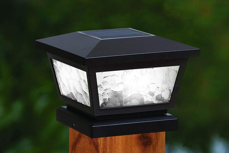 Classy Caps FS100B Fairmont Postcap Solar Post Cap Light 5 x 5 Black Classy/_Caps/_Mfg/_Inc