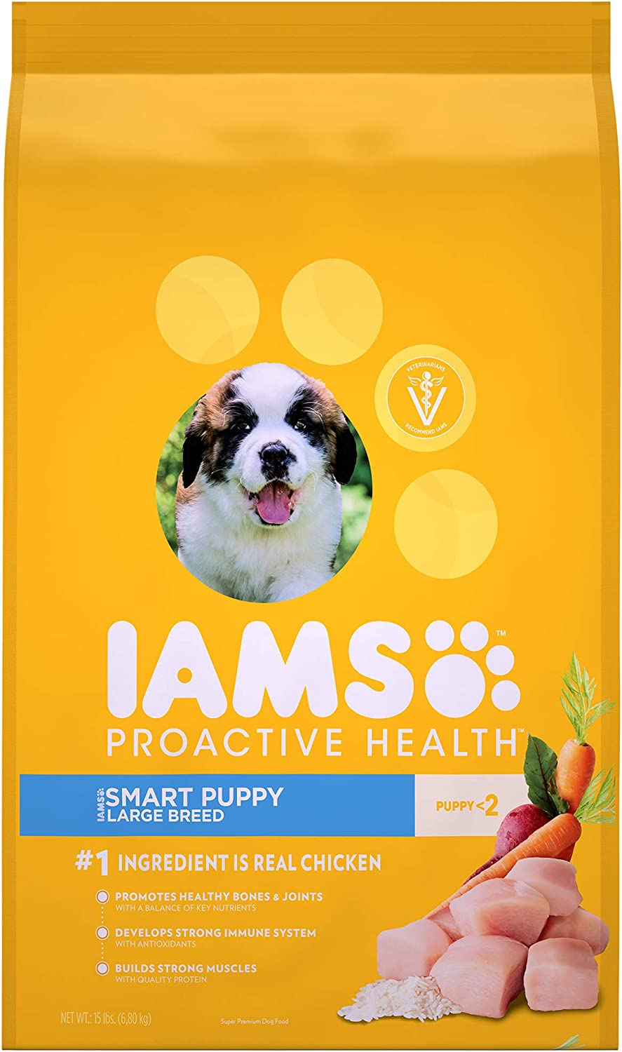 Iams Pack of 2 Proactive Health Smart Puppy Large Breed Dry Puppy Food