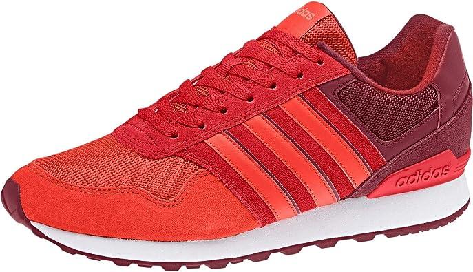 Adidas 10K, Zapatillas de Deporte para Hombre, Rojo (Buruni/Rojbas/Rojsol 000), 39 1/3 EU: Amazon.es: Zapatos y complementos
