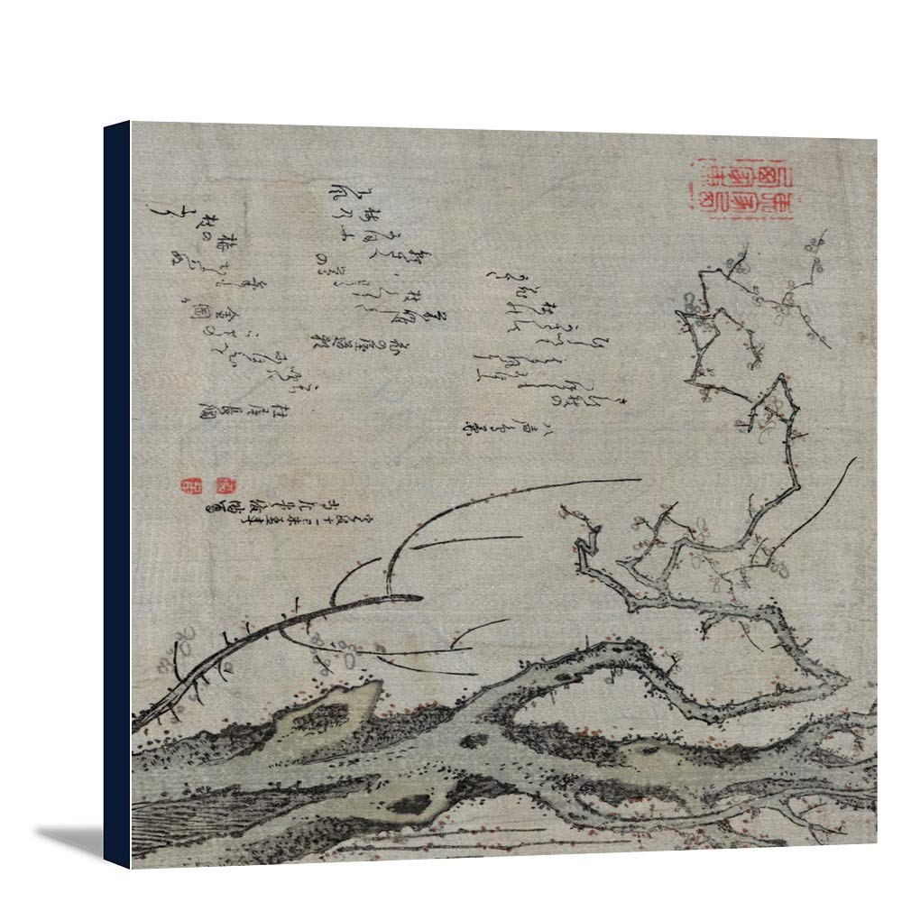 プラムツリーJapanese木材カット印刷 20 x 24 Gallery Canvas LANT-3P-SC-21256-24x36 20 x 24 Gallery Canvas  B0184A6YNE