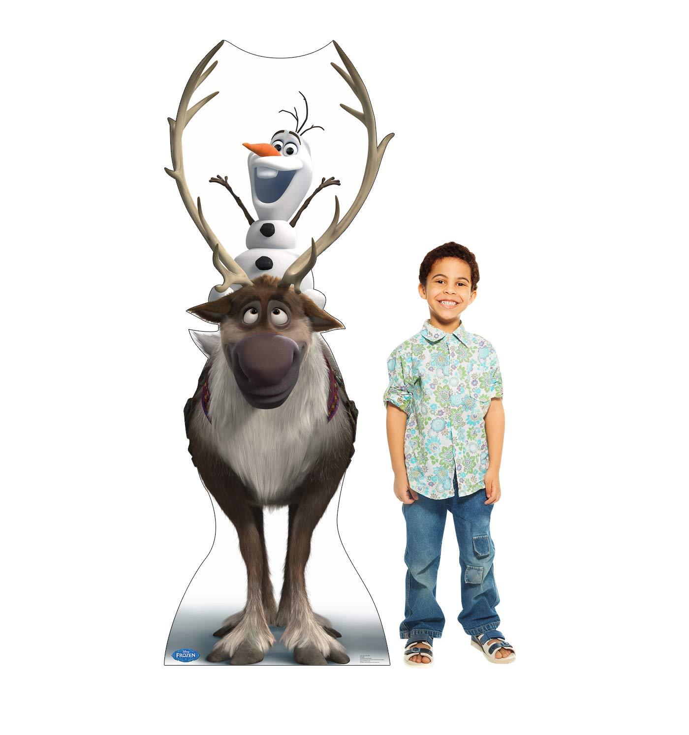 ed525f1ceb3b4 Amazon.com  Advanced Graphics Sven   Olaf Life Size Cardboard Cutout Standup  - Disney s Frozen (2013 Film)  Toys   Games