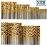 COMOWARE Titanium Twist Drill Bit Set- 120 Pcs...