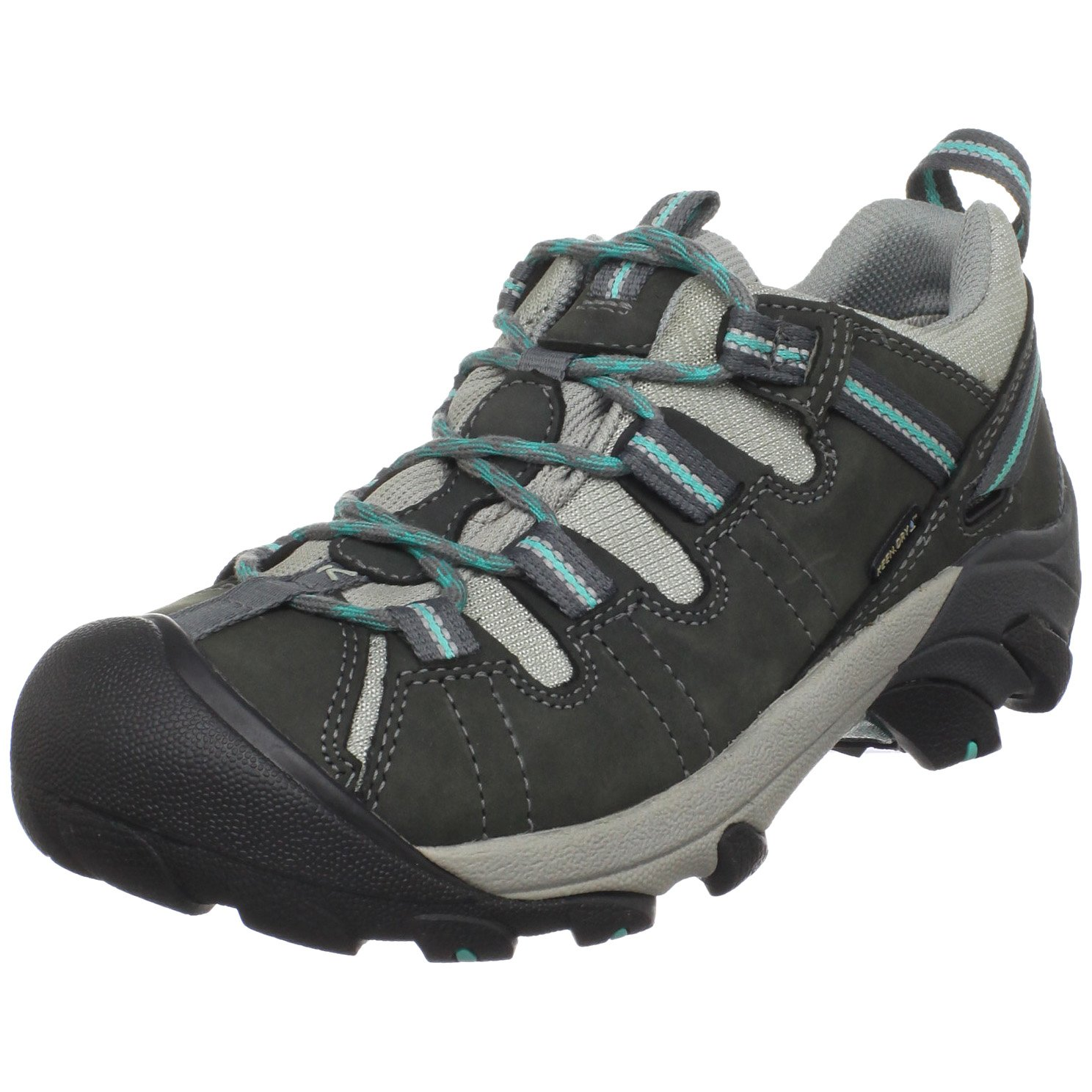 KEEN Women's Targhee II Waterproof Hiking Shoe,Gargoyle/Ceramic,8.5 M US by KEEN