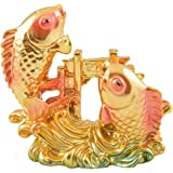 Odishabazaar Vastu Feng Shui 3inch Colorful Fish For Good Luck And Prosperity Or Double Fish