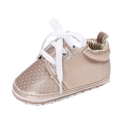 598aa35df3c6e Auxma Chaussures de Bébé Chaussures Bébé sans Gants Pour Bébés Filles Garçons  Chaussons de Chaussure Pour Bébés infantiles Prewalker Pour 3-6 6-12 12-18  ...