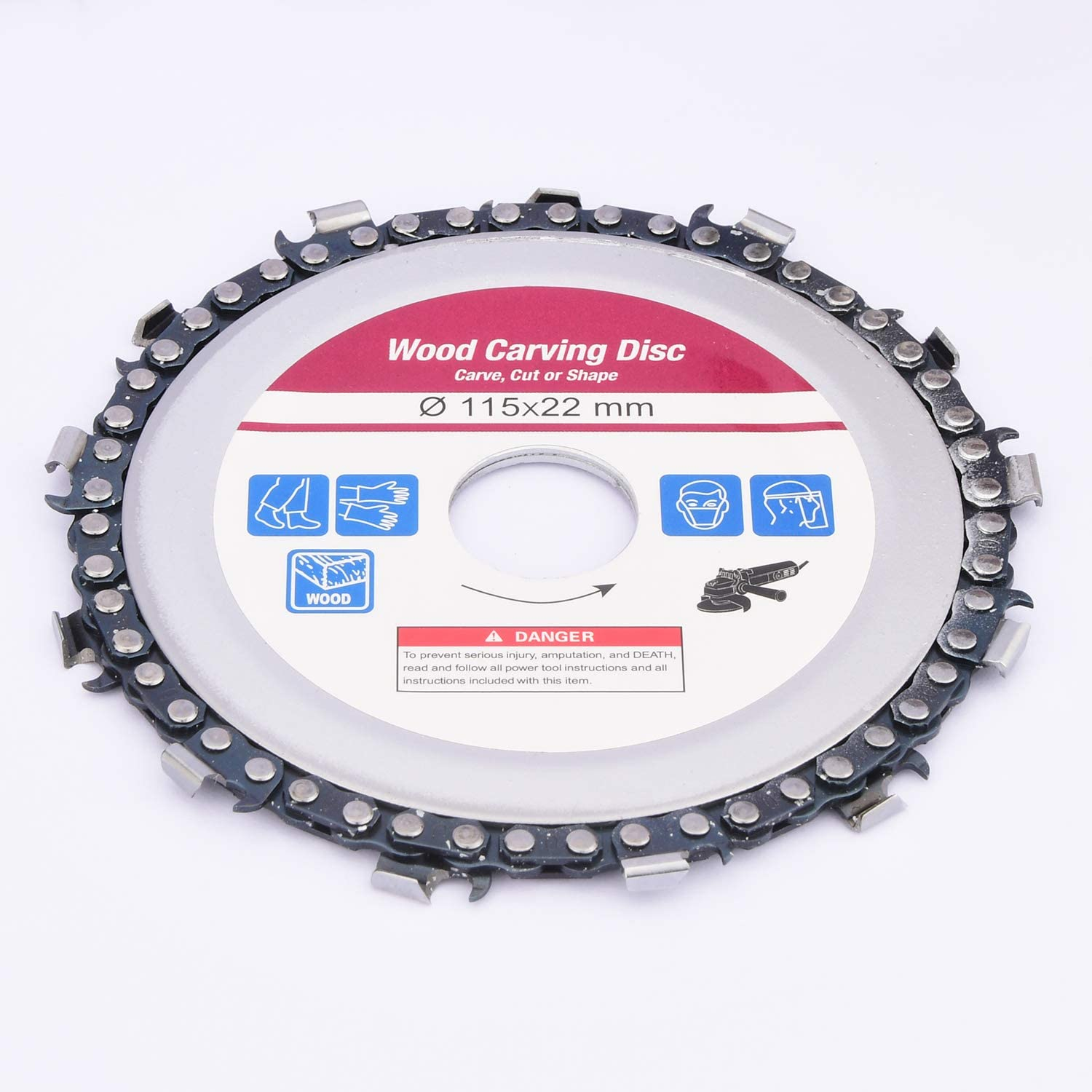 4.5 Inch Wood Carving Disc Woodworking Chain Plate Grinder Chain Saws Disc