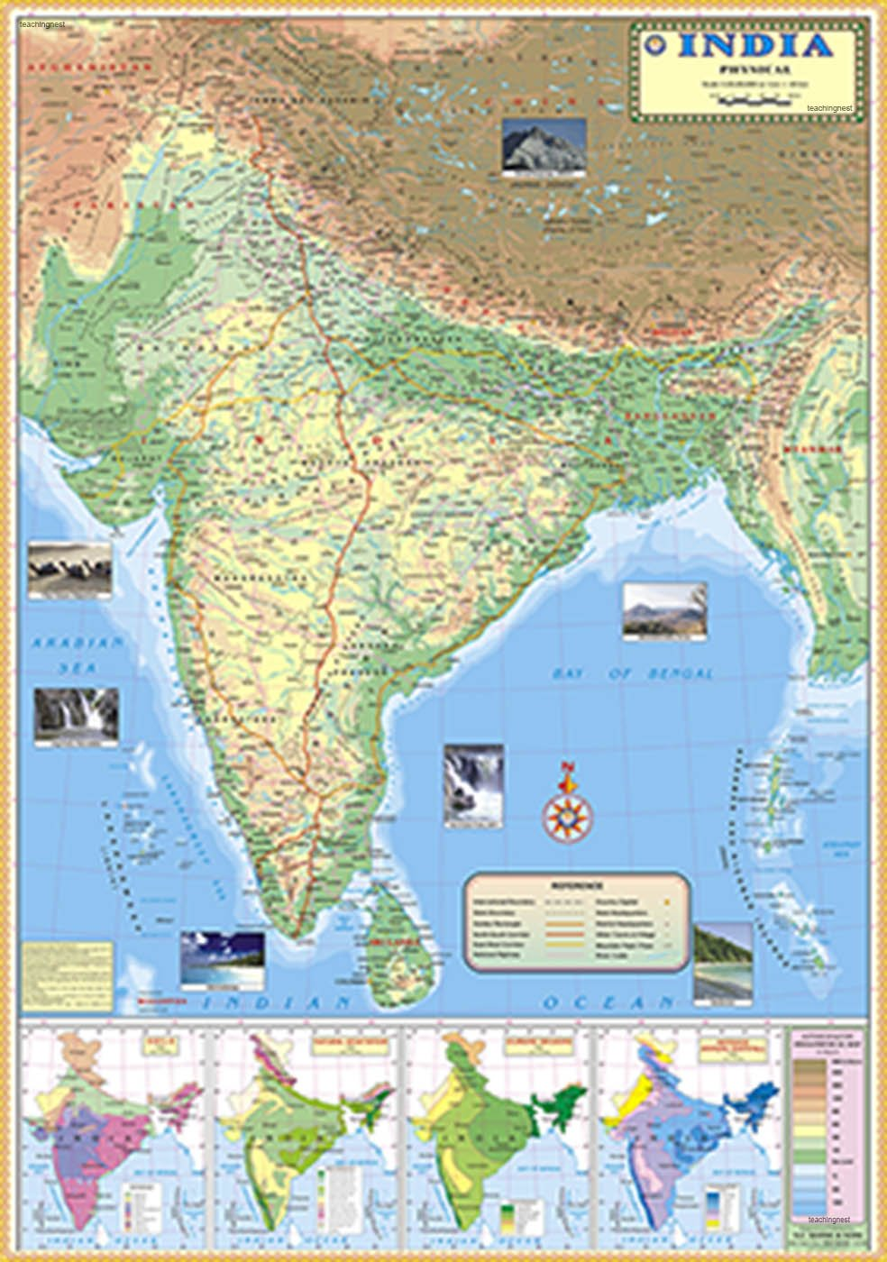 Amazon In Buy India Physical Map 70x100cm Book Online At Low Prices In India India Physical Map 70x100cm Reviews Ratings