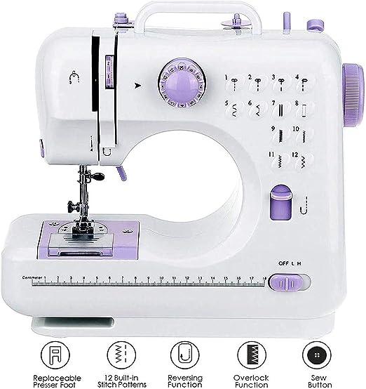 Máquina de coser 12 puntadas 2 velocidad de luz LED del pie Padal ...