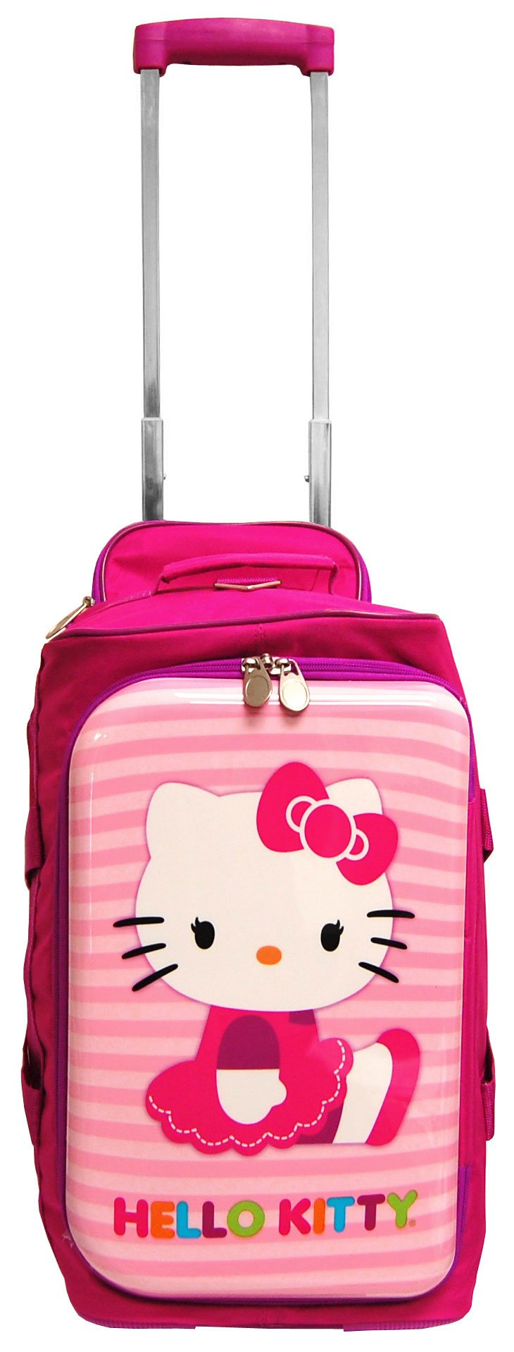 "18"" Sanrio Hello Kitty Rolling Luggage Duffle Bag"