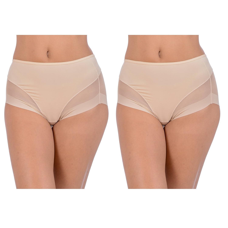 Patricia Lingerie Women's Soft Laser Cut Seamless Shapewear Control Brief Panty CKC_PLC_8266