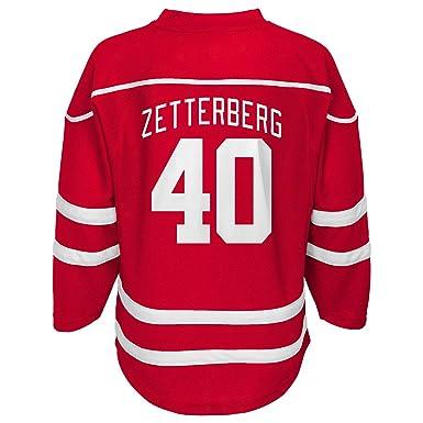 Henrik Zetterberg Detroit Red Wings Youth Red Player Stripe Fashion Jersey ( X-Small 4 081dda789