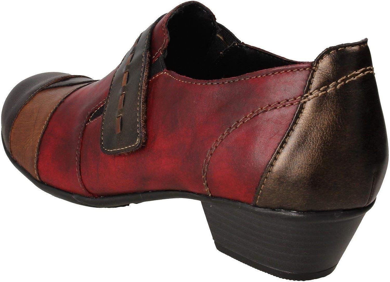 Remonte D7304-35 Bottines /à talon bas en cuir Rouge Marron