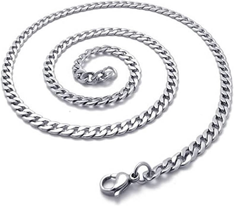 MENDINO Mens Width 8mm Stainless Steel Necklace Twist Link Chain with a Velvet Bag