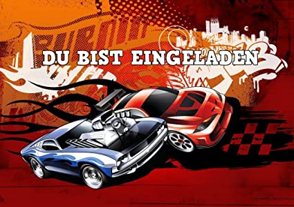 Ll Hot Wheels Tarjetas De Invitación Juego De 6 Incluye 6