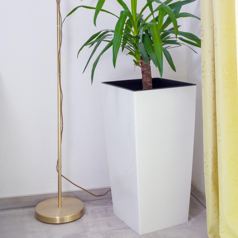 Hervorragend Höhe je 62 cm, Vorteils-Set 2x Pflanzkübel Kunststoff groß weiß  ID42