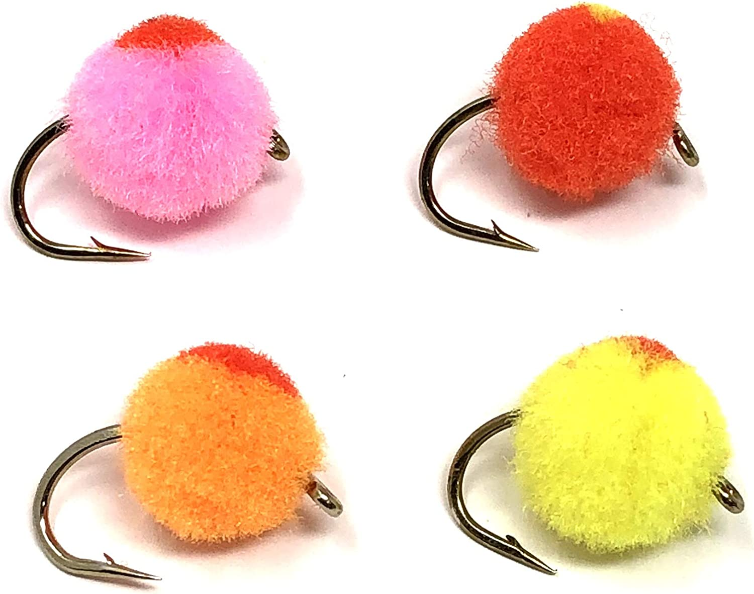 For Trout or Salmon Egg Fishing Fly 8 Pack Orange Eggs Mixed 8//10