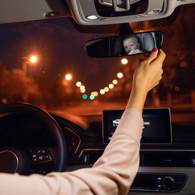 GeeRic Espejo retrovisor del beb/é espejo Retrovisor del autom/óvil del beb/é Espejo retrovisor del autom/óvil a prueba de golpes Espejo retrovisor del autom/óvil para asiento infantil y portabeb/és