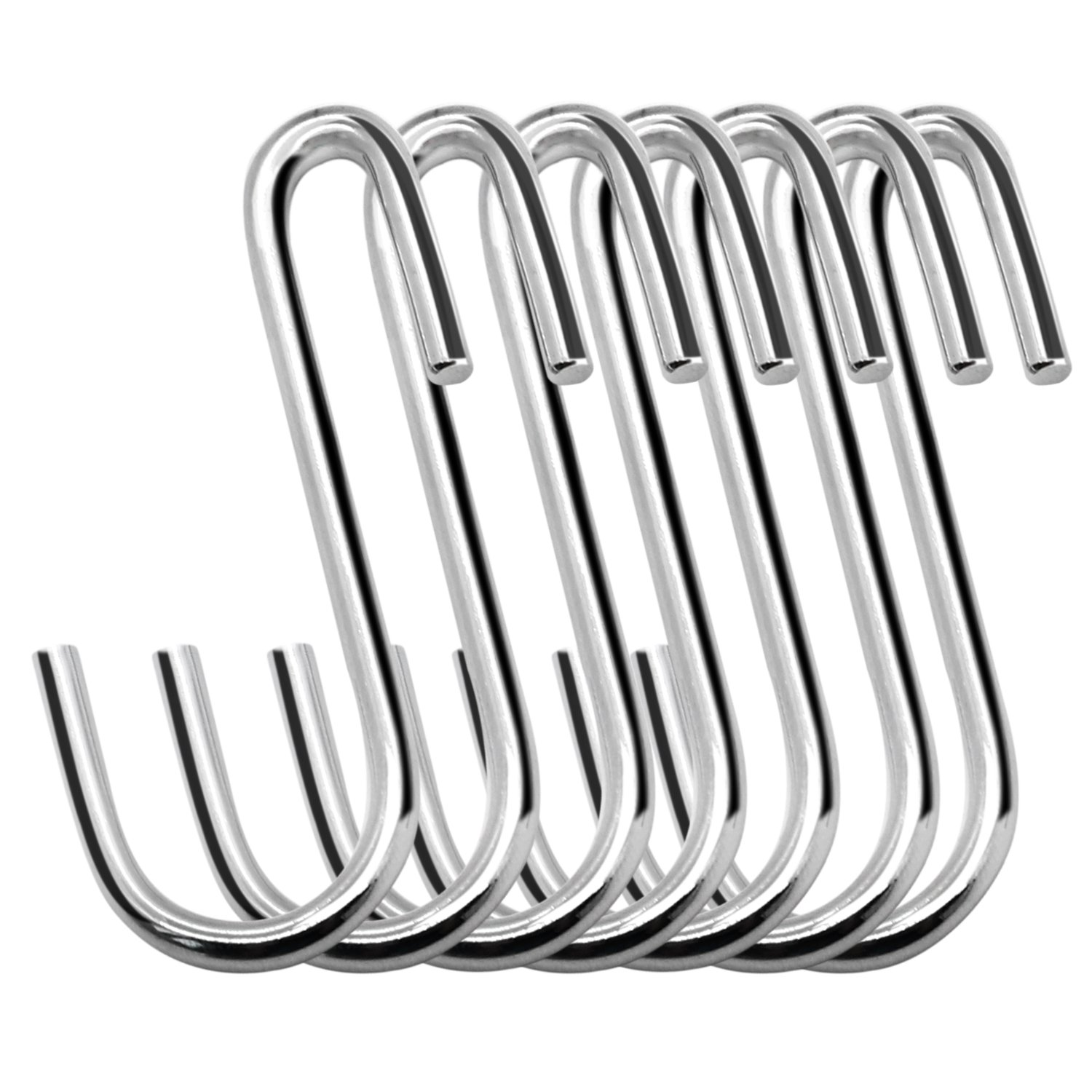 30 Pack Esfun Heavy Duty S Hooks Pan Pot Holder Rack Hooks Hanging Hangers S Shaped Hooks for Kitchenware Pots Utensils Clothes Bags Towels Plants