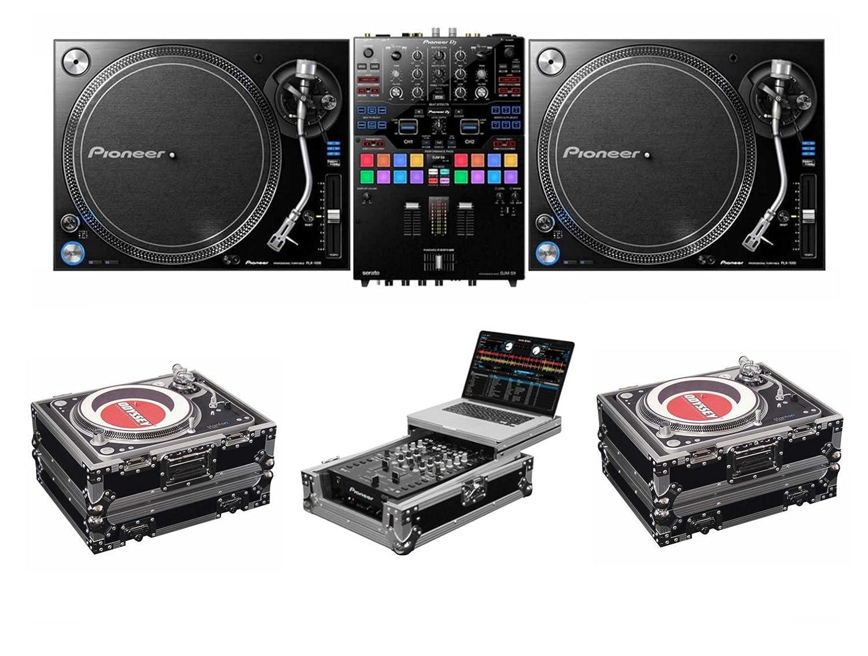 Pioneer DJ DJM-S9 And PLX-1000 + Odyssey FZGS10MX1 and FZ1200 Case Bundle