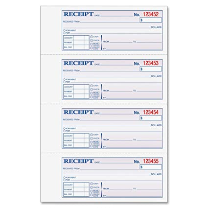 Amazon.com : Adams Money and Rent Receipt, 7.63 x 11 Inches, 2 ...