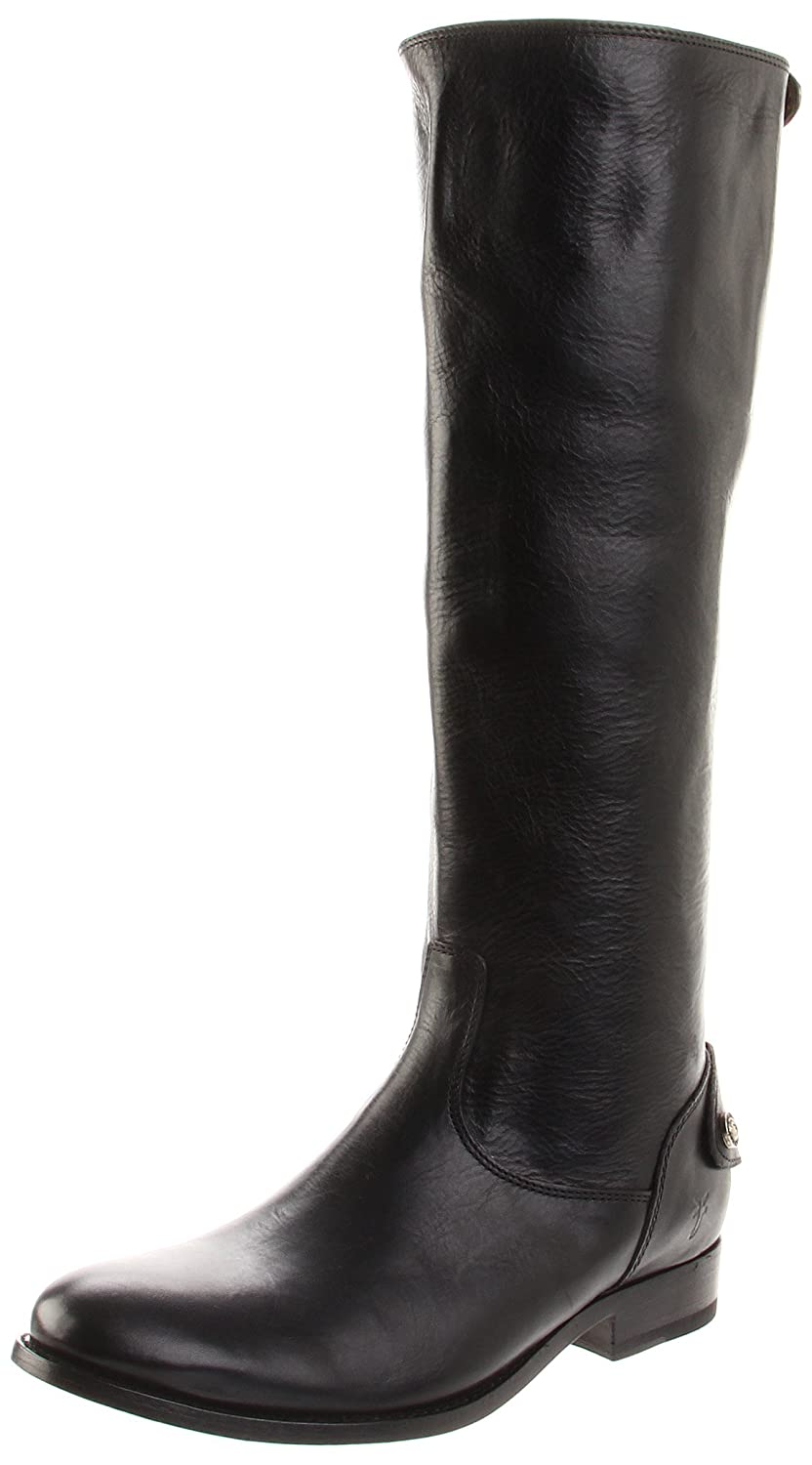 FRYE Women's Melissa Button Back-Zip Boot B004HVC3TE 7 B(M) US|Black Smooth Vintage Leather-76431