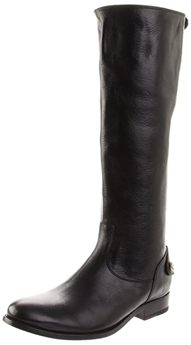 FRYE Women's Melissa Button Back-Zip Boot, Black Smooth Vintage Leather, ...