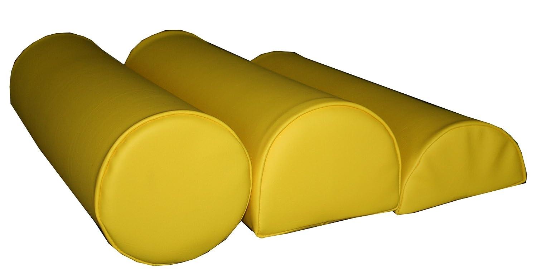Lagerungsrolle (1/2 Form ca. 60x18x9cm) gelb Physioline