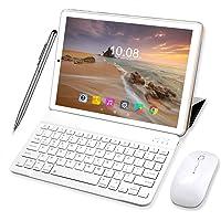 Tablet 10 Pulgadas 4 GB RAM 64GB/128GB ROM Android 9.0 Ultrar-Rápido Tablets 4G Dual SIM / WiFi 8000mAh Batería Quad…