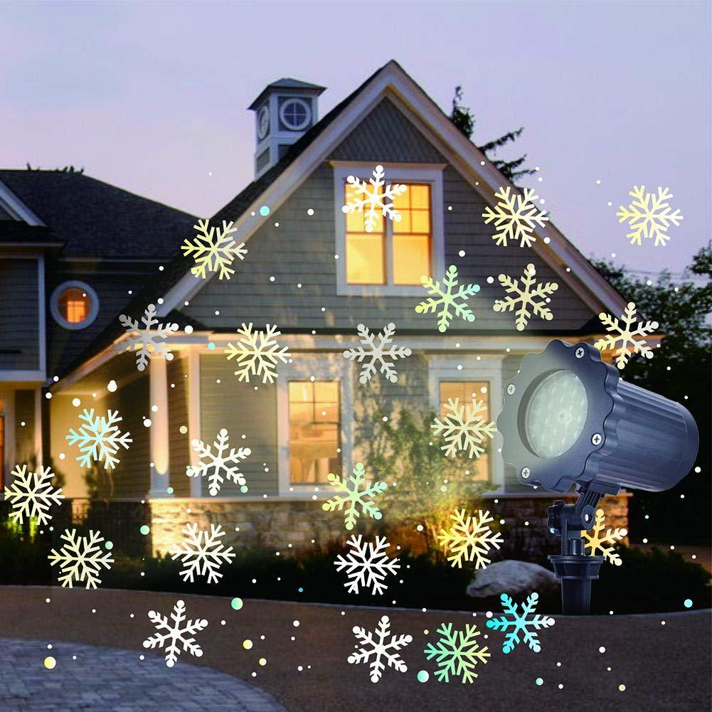 Weihnachten Landschaft Beamer Beleuchtung Schnee fallende ...
