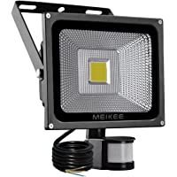 Projecteur LED détecteur Spot Extérieur 20W 2000LM 6000K, MEIKEE lumiere exterieur led sensibilité étanche IP65 lampe de sécurité idéal pour parasol, terrasse, patio, garage, etc