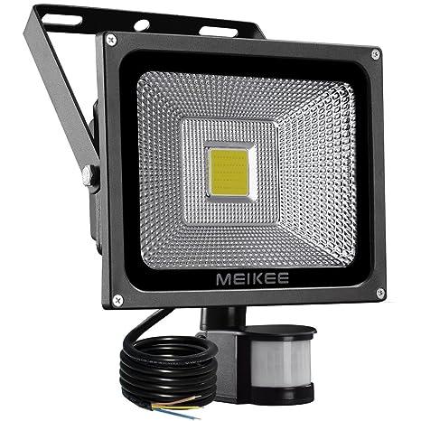 MEIKEE Foco LED con Sensor de Movimiento 20W,2000LM Impermeable IP65 Focos con Detector de