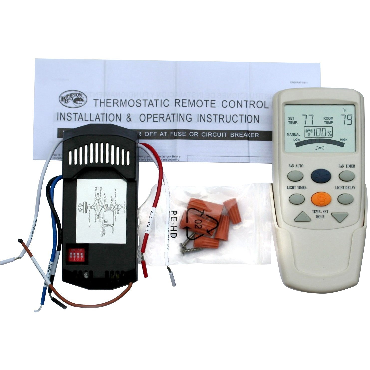 Best Rated In Ceiling Fan Remote Controls Helpful Customer Reviews Wiring Without Universal Thermostatic And Light Control Conversion Kit Product Image